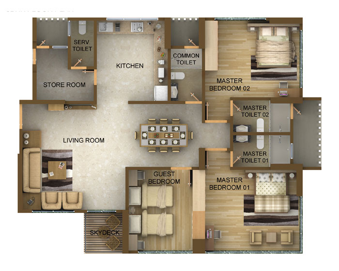 4 bedroom apartment floor plans india home fatare for Apartment plans 2 bedroom in india