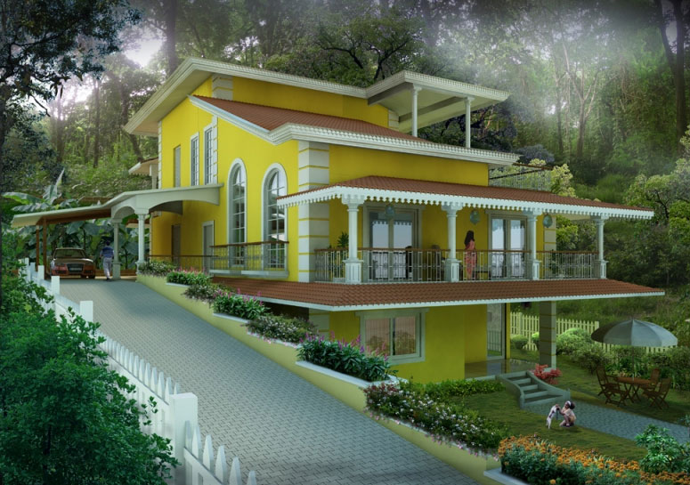 Goa houses for sale homes in goa goa homes for Goan house designs and floor plans